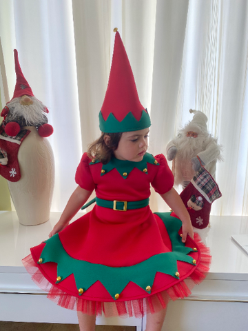girls elf dress