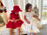 Sisters Christmas dresses / red and white dresses / baby dress / Toddler dress / little girl clothes / Christmas outfit