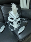 Ghost Rider mask with weapons and flames  PAYMENT plan available