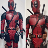 Deadpool mesh costume with katanas and boots