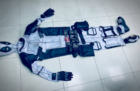 grey deadpool costume