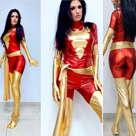 Dark Phoenix custom full cosplay with built in soles FREE shipping!