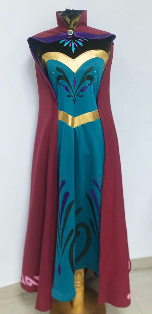 elsa frozen dress and cape