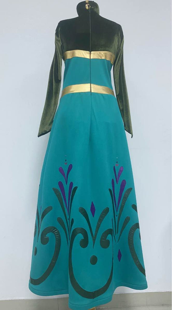 Elsa coronation dress and cape / Elsa Frozen dress