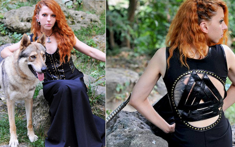 Celtic dress/Viking costume/John Snow inspired women dress and cloak/Medieval clothing/Game of Thrones inspired costume/Women viking costume
