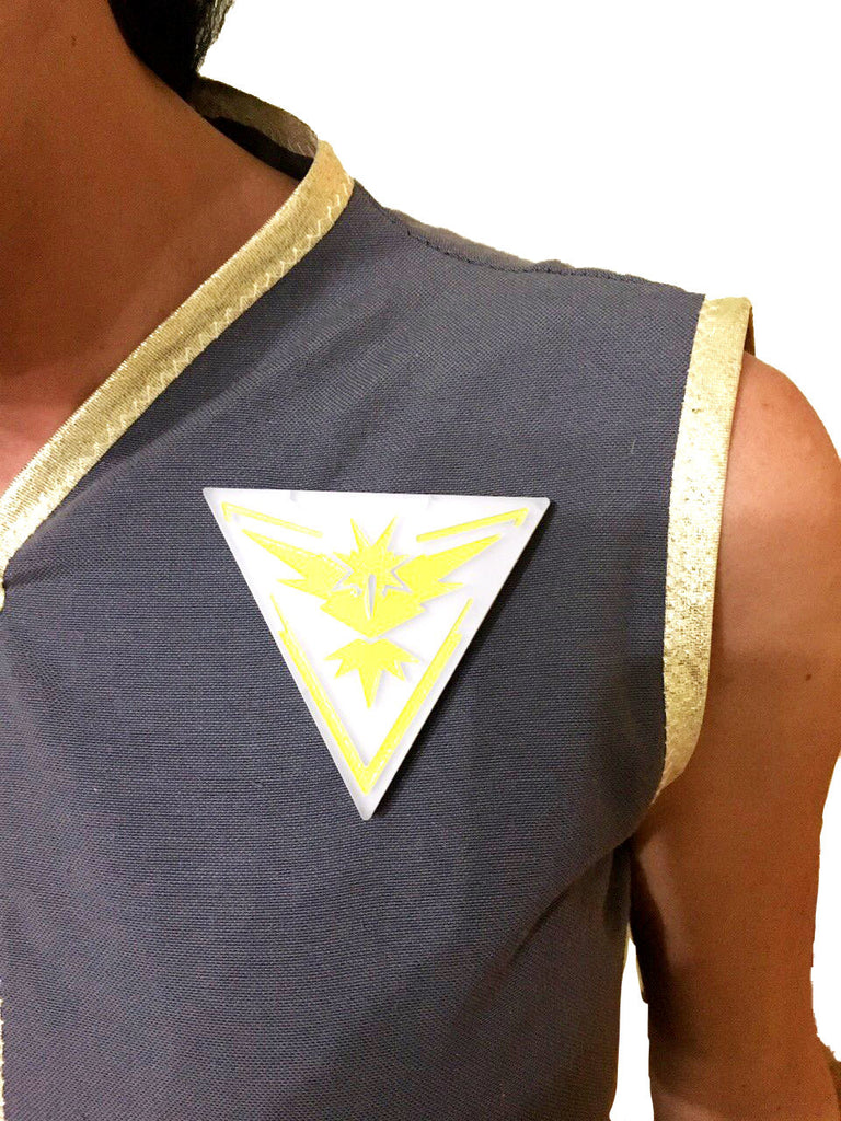 Custom Pokemon costume with Team instinct logo