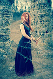 Celtic dress/Viking costume/Viking dress and mantle with fur/Medieval clothing/Game of Thrones inspired costume/Women viking costume