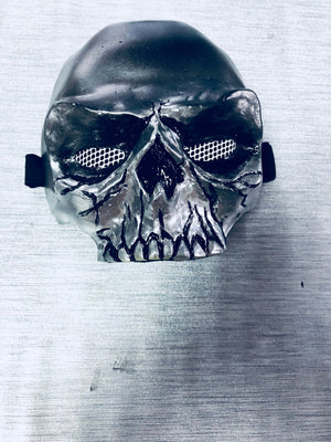 Metallic Skull mask / specs scorpion skull  mask/ cosplay mask / half mask/ demon mask/ skull half mask/ movie mask /Mortal Kombat