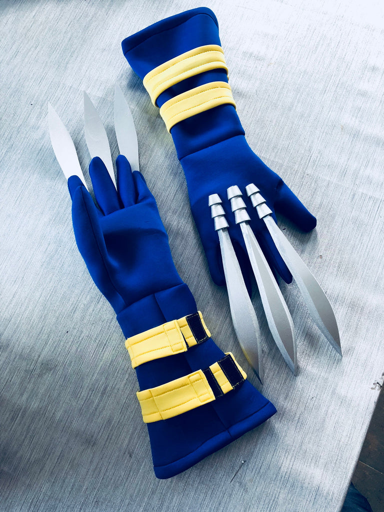 Wolverine X-Men cosplay gloves with nails/ Wolverine nails