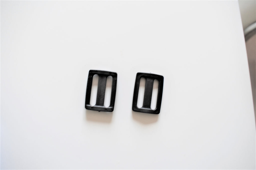 Plastic Slides  0.94 Inch - Black / Plastic Tri-Glide Slide Adjuster black - 10 pcs/ 50 pcs / 100 pcs