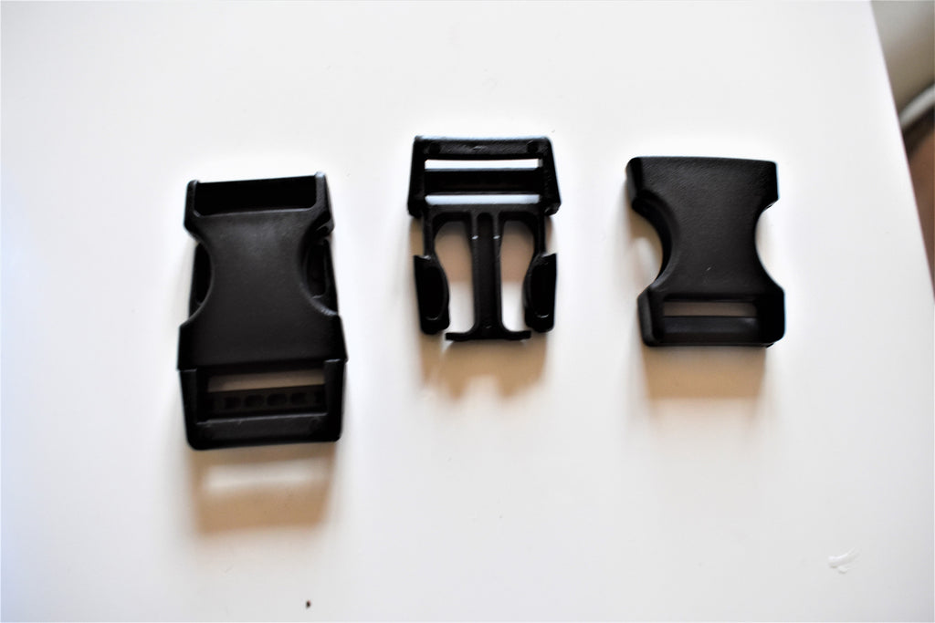 Quick Release Black Buckles For 1 Inch=2,5 cm for Black Webbing / Backpack buckle