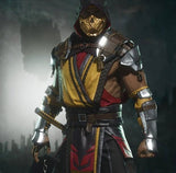 Mortal Kombat 11 full cosplay costume with mask, boots and weapons