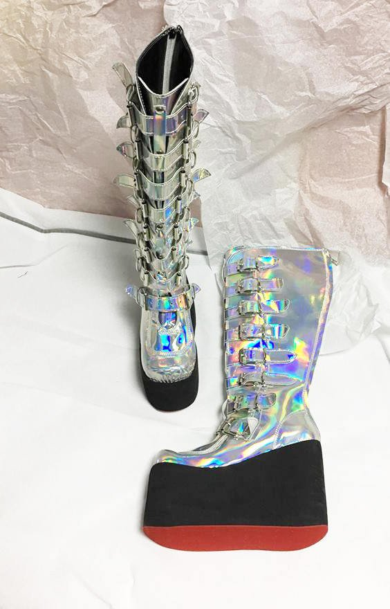 Hologramboots/ Disco boots