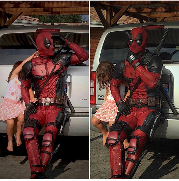 Deadpool movie suit partytask