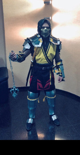 Mk 11 Scorpion Costume Mortal Kombat 11 Scorpion Cosplay Costume With Partytask Boutique