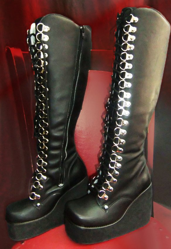 "Women Platform boots /Genuine Leather boots ""Lolita"" / Gothic leather boots / Heavy metal boots for women/ Artistic boots/ Show boots"
