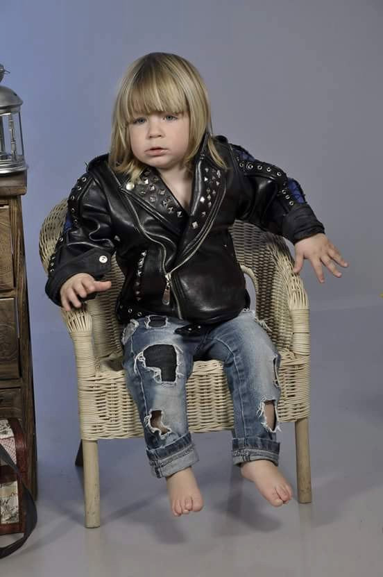 Leather jacket for kids, Rocker jacket for little boy,Bon Jovi jacket for kid