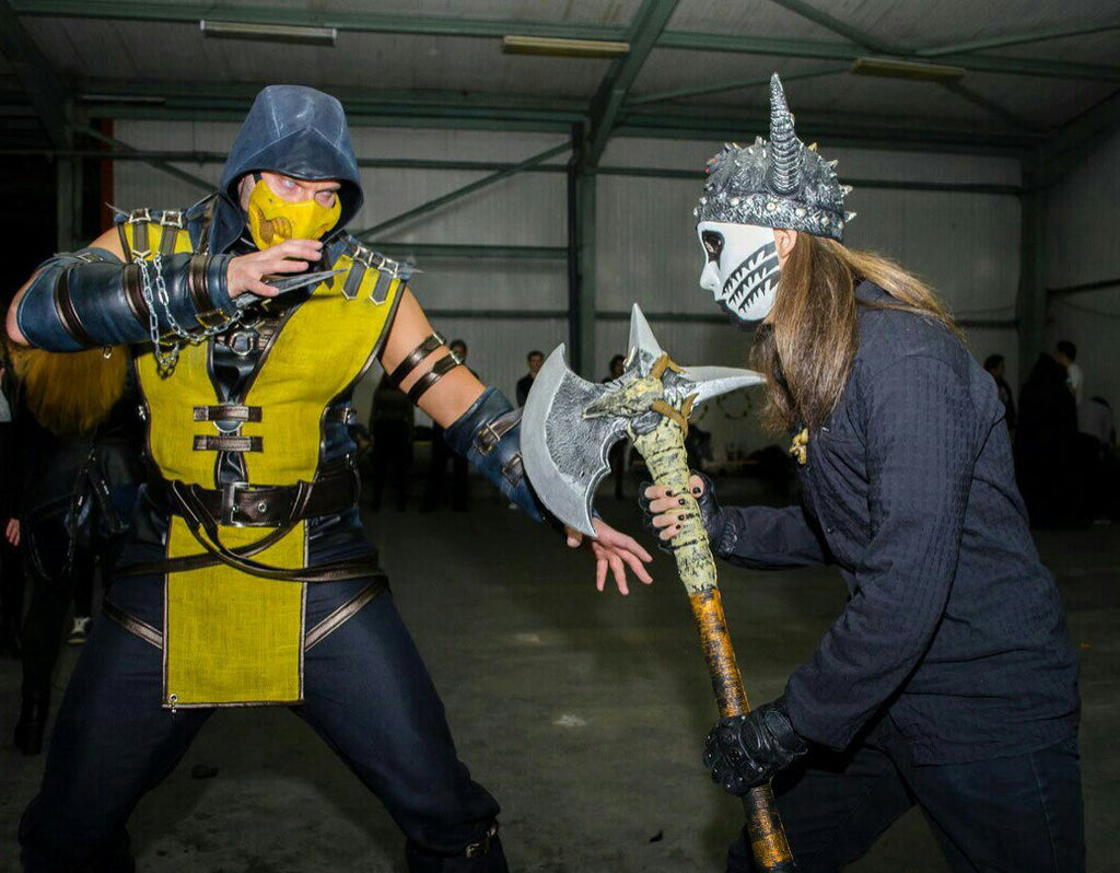 Mortal Kombat Scorpion cosplay costume/Scorpion costume/Cosplay costume for Men/Boys