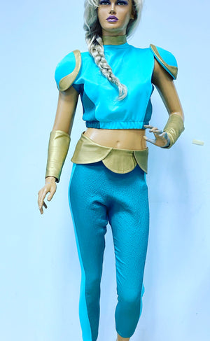 Mermista cosplay costume with pauldrons and bracers