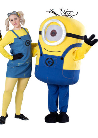 """Despicable me"" cosplay costume/ Minon Mascot, design 1 with one eye"