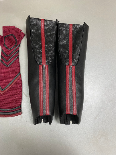 Scarlet Witch shinguards and gloves