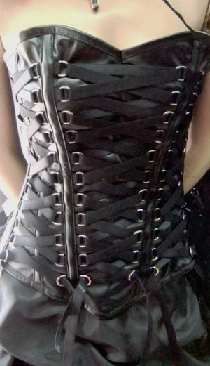 Sexy leather corset/Steampunk corset/Black corset/Push up corset/Sexy Top
