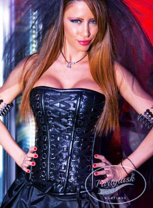 Authentic leather corset