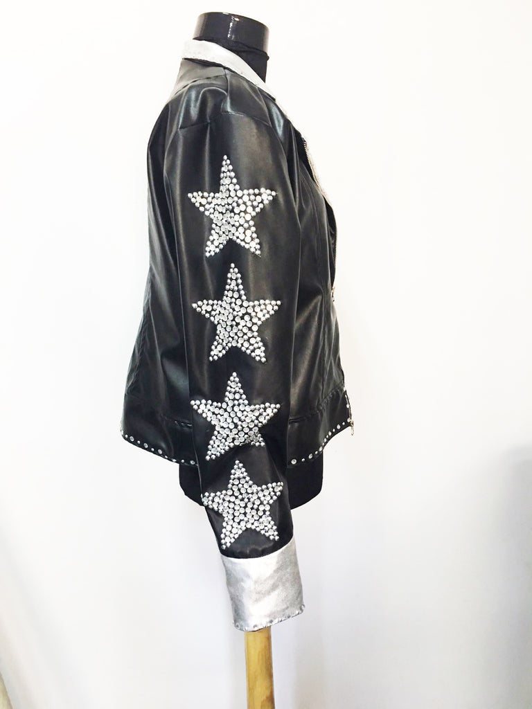 Leather jacket and belt inspired by the Starchild/ Starchild inspired boots