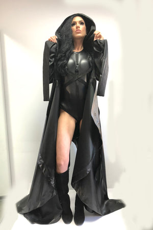 "taylor swift ""Ready for it"" costume with cape and bodysuit"