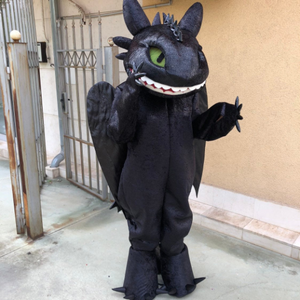 Toothless dragon costume/Dragon Toothless mascot/Toothless cosplay costume/High quality mascot/Custom made mascot