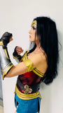 Wonder Woman costume with bracers and shinguards
