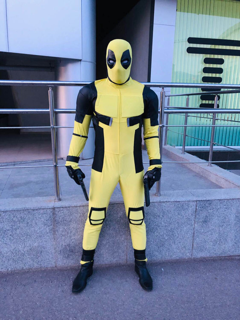 yellow deadpool with mask
