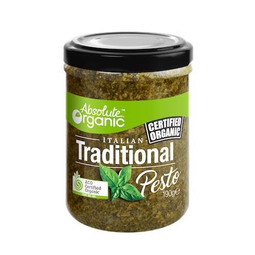 Absolute Organic Traditional Pesto 190g Sauces & Condiments