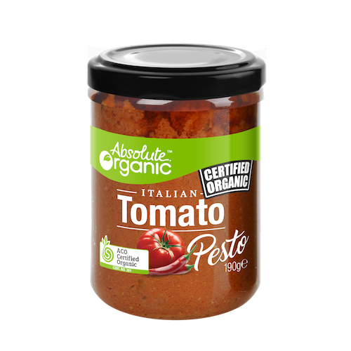 Absolute Organic Tomato Pesto 190g Sauces & Condiments