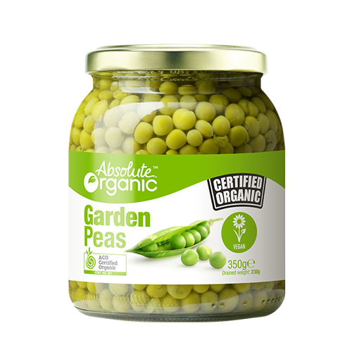 Absolute Organic Garden Peas 350g Preserved Vegetables