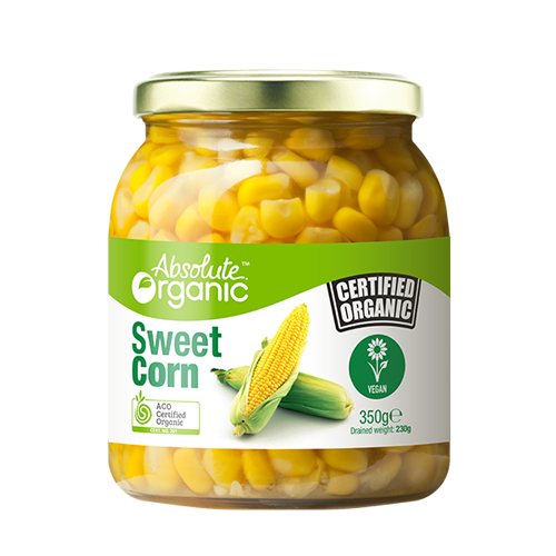 Absolute Organic Sweetcorn 350g Preserved Vegetables
