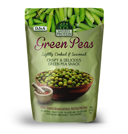 DJ&A Nature's Protein Green Peas 75g Snacks & Trail Mixes