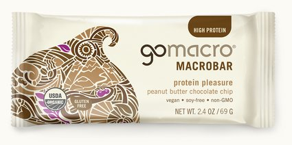 GoMacro Peanut Butter Choc Chip Bar 65g Snacks