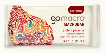 GoMacro Cashew Caramel Bar 65g Snacks