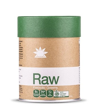 Amazonia Raw Prebiotic Greens 120g Supplements