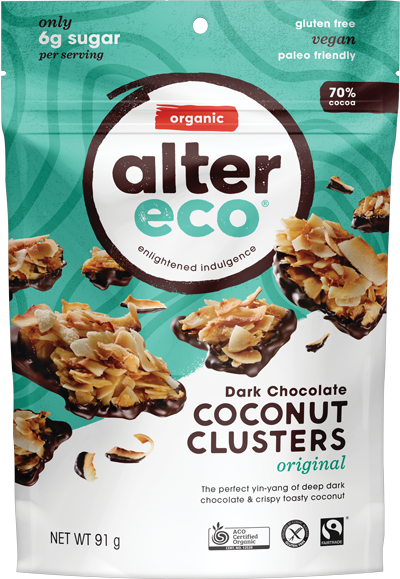 Alter Eco Coconut Clusters Original 91g Confectionery