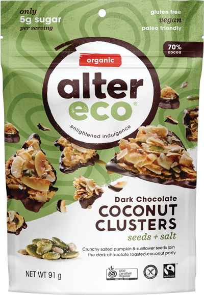 Alter Eco Coconut Clusters Seeds & Salt 91g Confectionery