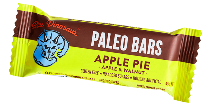 Blue Dinosaur Paleo Bar Apple Pie 45g Snacks & Trail Mixes