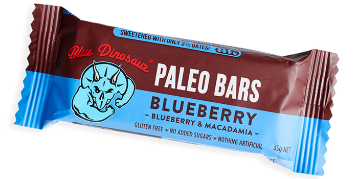Blue Dinosaur Paleo Bar Blueberry 45g Snacks & Trail Mixes