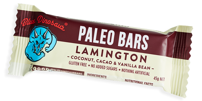 Blue Dinosaur Paleo Bar Lamington 45g Snacks & Trail Mixes