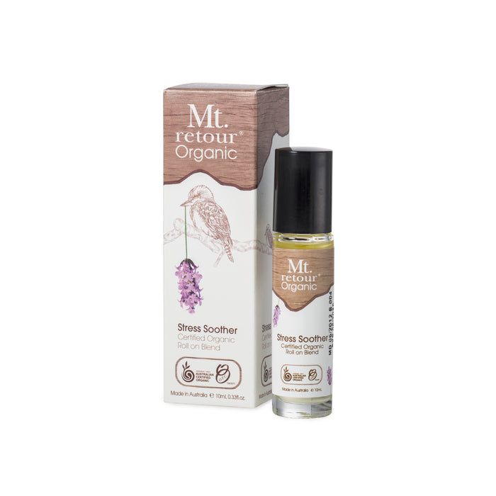 Mt Retour Stress Soother Roll On Blend Organic 10ml Essential Oils & Candles