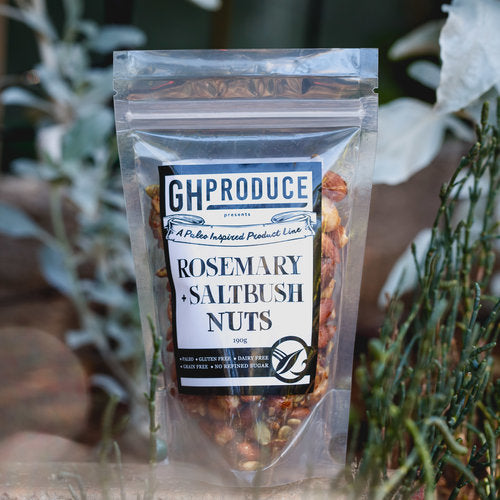 GH Produce Rosemary & Saltbush Nuts 190g Snacks & Trail Mixes