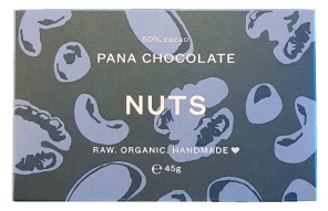 Pana Chocolate Organic 50% Raw Cacao - Nuts 45Gx12 (Pana Chocolate)