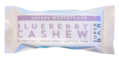 Sneaky Wholefoods Blueberry Cashew Super Bar 60g