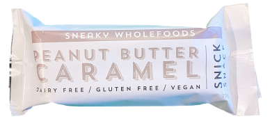 Sneaky Wholefoods Peanut Butter Caramel Snack Bar 60g Snacks & Trail Mixes